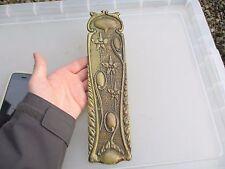 Vintage Brass Finger Plate Push Door Handle Antique Old Art Nouveau 1904