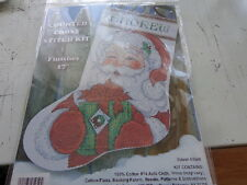 winking santa cross stich stocking kit 17inches