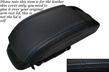 BLUE STITCH LEATHER ARMREST SKIN COVER FITS VAUXHALL OPEL ZAFIRA C 2012-2014