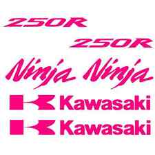 Kawasaki Ninja 250 Decals HOT PINK monster Sticker Motorcycle 250r decal