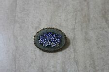 """Vintage Italy Micro Mosaic Brooch """"Tiny Flowers"""""""