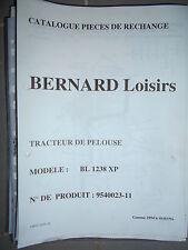 BERNARD tracteur BL 1238 XP : Catalogue pièces