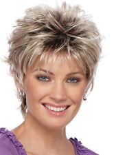 Sexy ladies wig Blonde mix Black root Short curly Women Female Lady Hair wigs