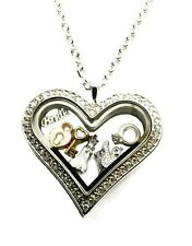 Wedding Ring Dress I Do Lock Key Stainless Steel Floating Charm Locket Necklace