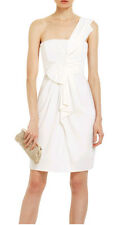 "$248 BCBG WHITE ""PALAIS"" ONE SHOULDER DRESS NWT 10"