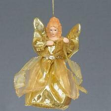 "Christmas 6"" Tree Top / Hanging Angel Decoration - Gold"