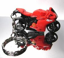 2014 Hot Wheels Red DUCATI Panigale Motorcycle Custom Key Chain Ring!