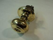Standard Locking Door Handle Bright Brass Metal