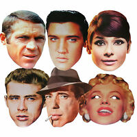 HOLLYWOOD STARS - FUN PARTY FACE MASKS - 6 TO CHOOSE FROM - LICENSED PRODUCTS