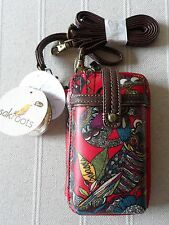NEW OWL SAKROOTS  CROSSBODY HANDBAG / SMARTPHONE IPHONE (INC 6 )HOLDER PURSE