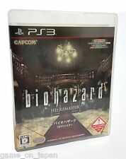 Resident Evil Hd Remaster PS3 Biohazard Capcom Japanese Version Multi-Language
