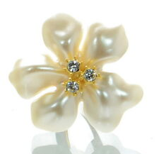 Kenneth Jay Lane Enamel Flower Ring Sz.- 7