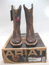 ARIAT Womens LEGEND Brown Leather Square Toe Western Boots Size US 6.5 C