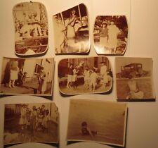 Santiago de las vegas-cuba - 1927-parque de atracciones personas auto/8x foto