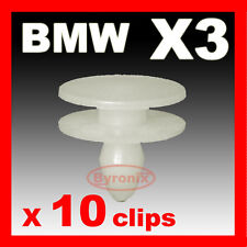 BMW X3 E83 FRONT WING WHEEL ARCH PLASTIC TRIM PLUGS CLIPS