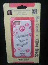 iPhone 5 Katy Perry White Pink Grey Peace Premium Gel Shell Case WUS-iP5-GKP01