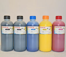 5X500ML non-OEM PIGMENT Ink Refill For Epson T3000 T5000 T7000 T3270 T5270 T7270