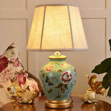 European Ceramic Table Lamp Bedside Lamp Desk  Lamp Country Style Blue