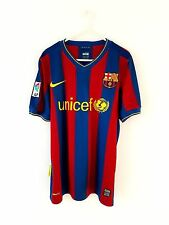 Barcelona Home Shirt 2009. Small. Nike. Red Adults S Short Sleeves Football Top.