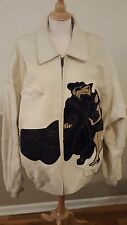 RARE Vintage PELLE PELLE Marc Buchanan COOL CAT/HOT ROD Leather Coat - Size 56