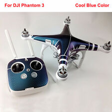Carbon Fiber Skin Decal Sticker DJI Phantom 3 Quad Shell + Controller Accessory