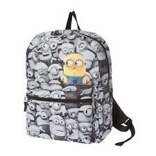 Despicable Me Minions Backpack Black White with Detachable Coin Purse Bookbag