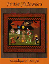 CRITTER HALLOWEEN APPLIQUE QUILT PATTERN BOOK, From Brandywine Design NEW