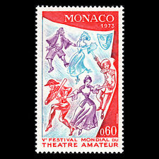 Monaco 1973 - 5th World Amateur Theatre Festival Art - Sc 869 MNH