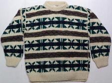 Otavalo Hand Knit Ecuador Wool Knit Sweater Mens Size Large