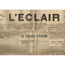 L'ÉCLAIR 22-11-1915 Incendie Maison AZAÏS à BEAUCAIRE PINET Tentative de Meurtre