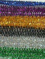 50 PCS  9cm LONG SPARKLY PIPE CLEANERS CHENILLE STICKS  FUZZY STEM MIXED COLOUR