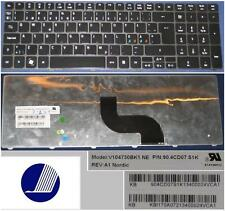 Clavier Qwerty NE Nordic ACER AS5810T V104730BK1 90.4CD07.S1K KB.I170A.072 Noir
