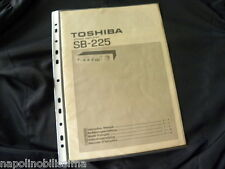 Toshiba SB-225 Owner's Manual  Istruzioni Mode D'emploi Instruction Manual