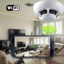 Camera HD Rilevatore Di Fumo Sicurezza Pinhole Spy Wi-fi