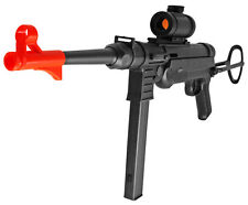 MP40 Airsoft Spring Rifle German WWII Gun With Metal Laser, Crosshair Scope