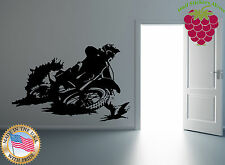 Wall Stickers Vinyl Decal  Motorcycle Racing Cross Dirt Bike Extreme  EM416