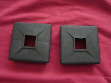 "pair 4"" SQUARE rubber BUMPER PLUG end cap cover RV camper trailer vented"