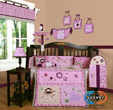 Baby Boutique Girl Animal Kingdom 13PCS Nursery CRIB BEDDING SET