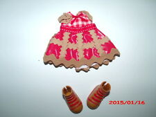 Lalaloopsy Doll Replacement DRESS & SHOES for CHERRY CRISP CRUST No Doll