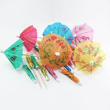 50 Pcs. Bamboo Nature Skewer Fruit Cupcake Cocktail Snack Umbrella Drink Party