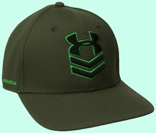 Under Armour Men's Undeniable Stretch Fit Cap Green Black Size MD/LG