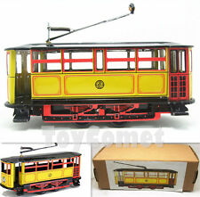 MS638 Yellow Vintage Tram Trolley Streetcar Retro Clockwork Wind Up Tin Toy