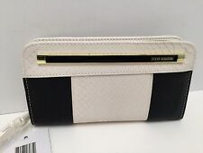 Steve Madden Women's Wallet Black White Snake Print Clutch New $44