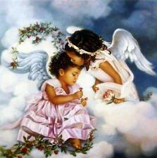 "Sandra Kuck "" Sharing the Love"" Girl Angels Print Image 12"" x 12"" matted w/COA"