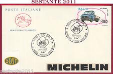 ITALIA FDC CAVALLINO SALONE VEICOLI INDUSTRIALI MICHELIN AR 8 1989 TORINO U323