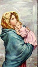 568 Madonna col Bambino -  con Gesù Bambino  Santino Holycard