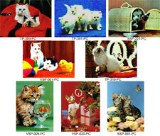 3D Lenticular Cute Cat Postcard Collection - 8 Vintage Kitty Cards, #8-CAT-PC#