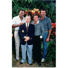 Magnum P.I. Roger E. Mosley, John Hillerman with Cast 8 x 10 Inch Photo