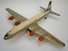 VINTAGE MECHANISM TIN TOY JAPAN Daiya AIRCRAFT AIRPLANE -KLM- ROYAL AIRLINES
