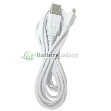 10FT White USB Micro Charge Cable for Alcatel BlackBerry HTC LG Motorola Samsung